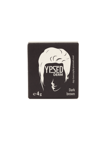 YpsedDerm Dark brown пудра-камуфляж для волос головы и бороды