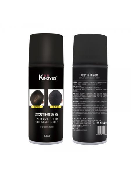 Аэрозольный загуститель волос KINGYES 130мл Black
