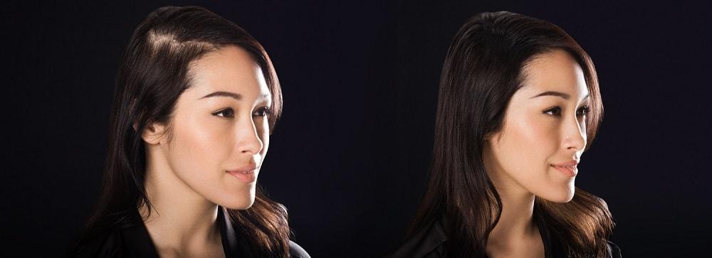 загустители волос фото до и после